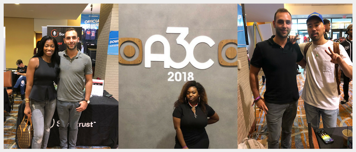 Team Songtrust meeting with plenty of current clients like Tami Latrell and Kato while at A3C