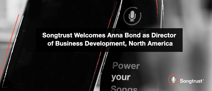 Songtrust welcomes Anna Bond as Director of Business Development, North America