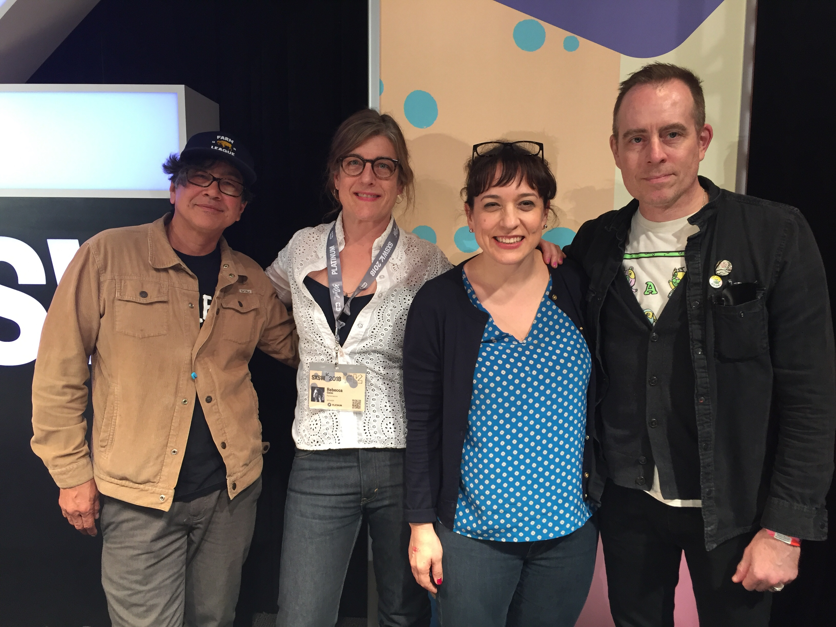 Ted Leo, Rebecca Gates, Molly Neuman, and Money Mark at SXSW