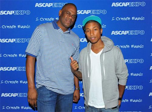 'Big Jon' Platt with Pharrell Williams