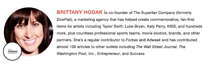 The Superfan Company's CoFounder, Brittany Hodak