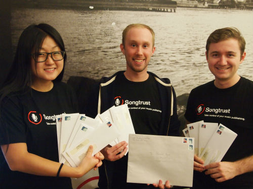 The First Songtrust Royalty Checks!